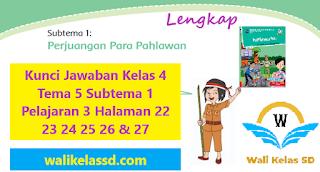 Kunci Jawaban Kelas 4 Tema 5 Subtema 1 Pelajaran 3