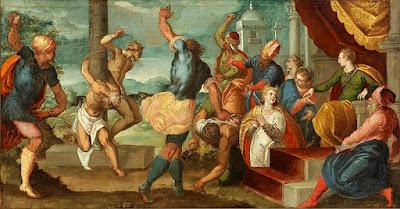 """""""Daniel do julgamento dos anciãos"""" (1575), pintura de Tintoretto (?-1594) pertencente à coleção da Rhode Island School of Design Museum."""