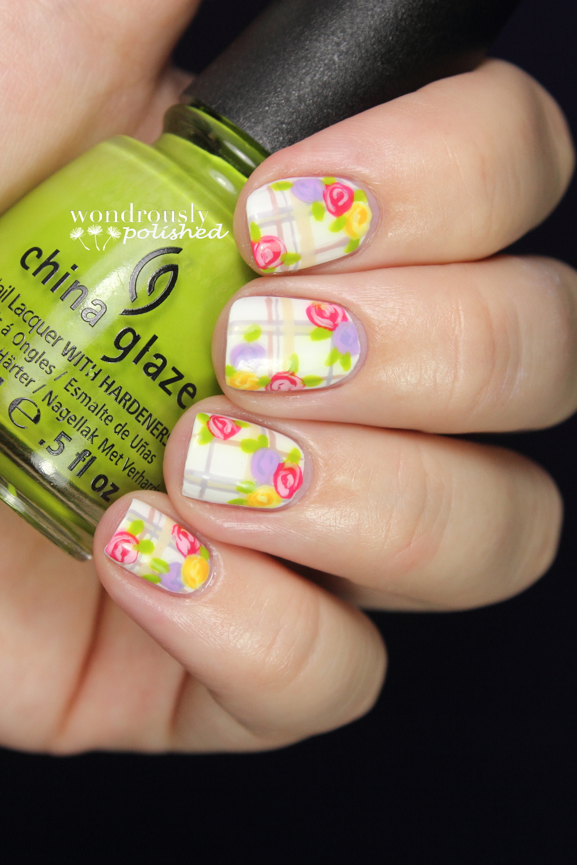 Wondrously Polished April Nail Art Challenge: Wondrously Polished: Bestie Twin Nails