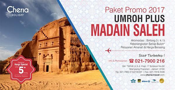 Paket Umroh Plus Madain Saleh 2017 Promo