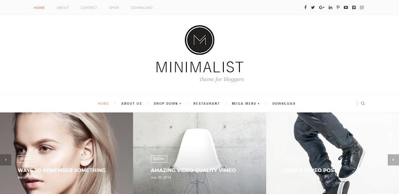 Minimalist Free Blogger Template