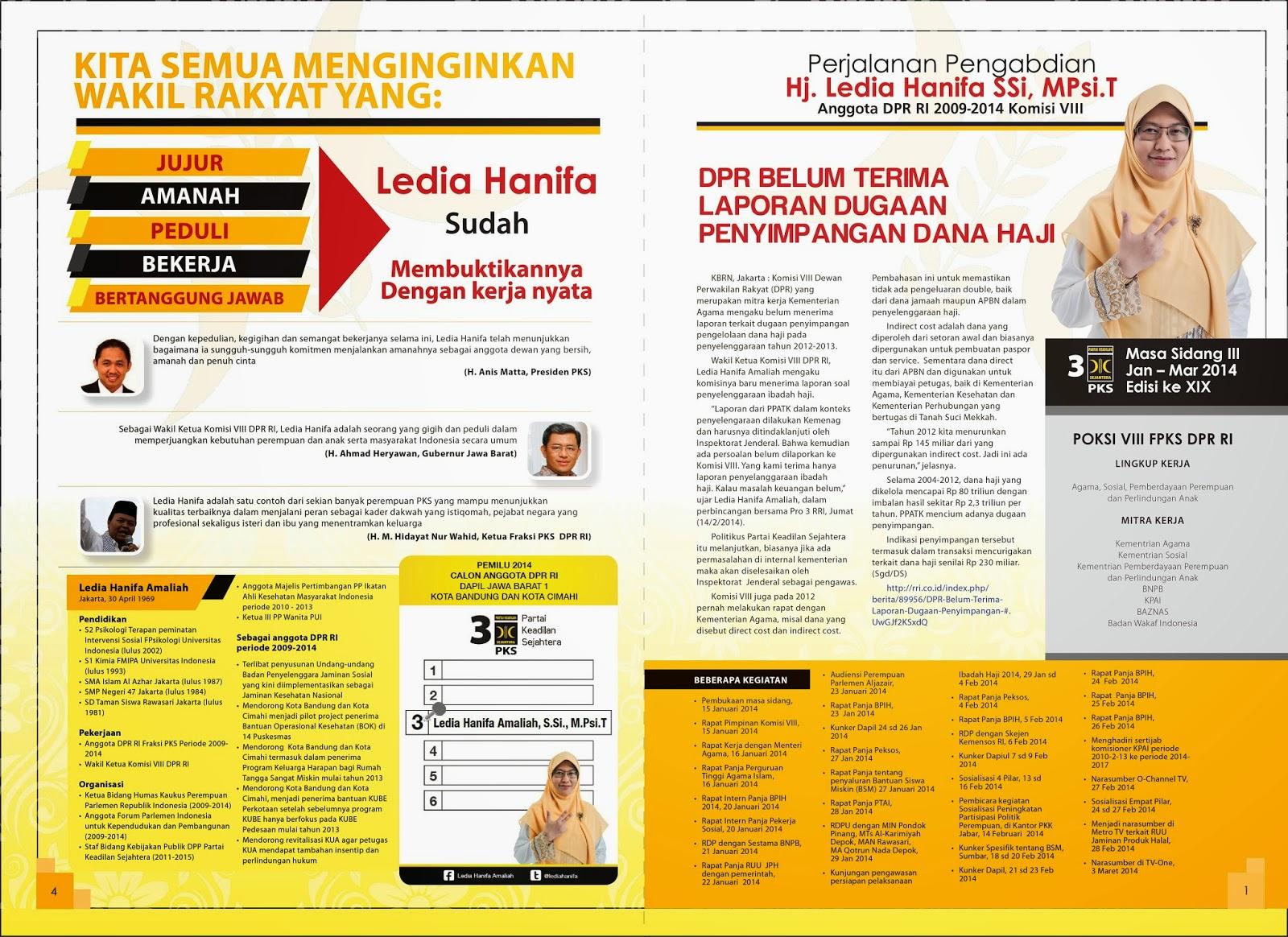 Newsletter Maret 2014 - Ledia Hanifa - Official Website