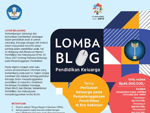 Lomba Blog Pendidikan Keluarga 2018