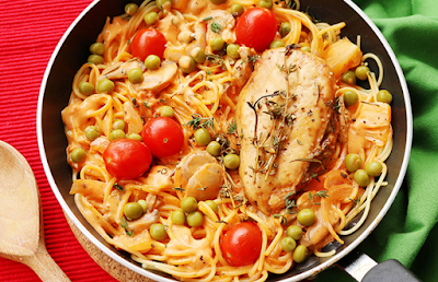 مكرونة بالدجاج على الطريقة الإيطالية