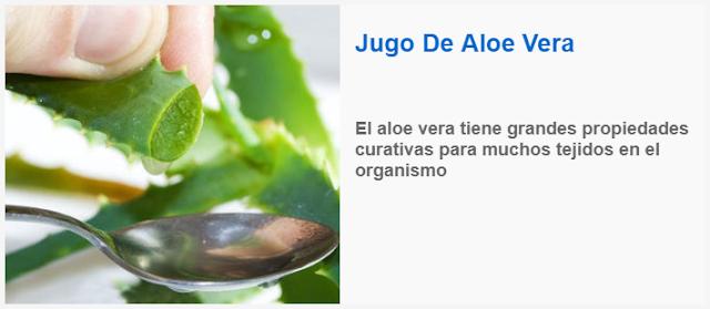El Jugo De Aloe Vera para curar colon irritable