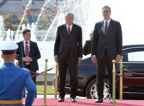 Erdogan Belgrádban: egyre több a török beruházás Szerbiában