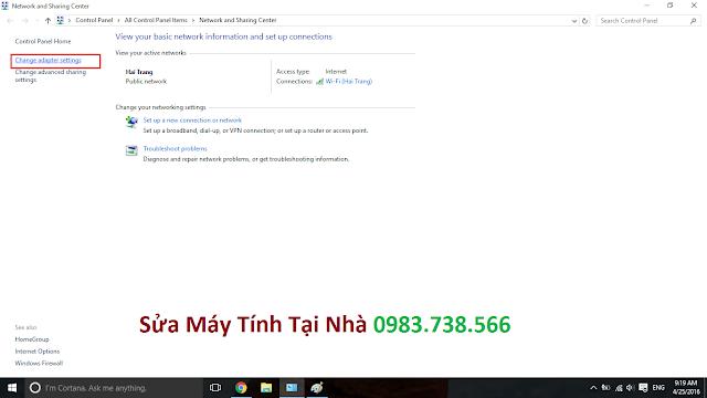 Lỗi không vào được mạng Internet - H02
