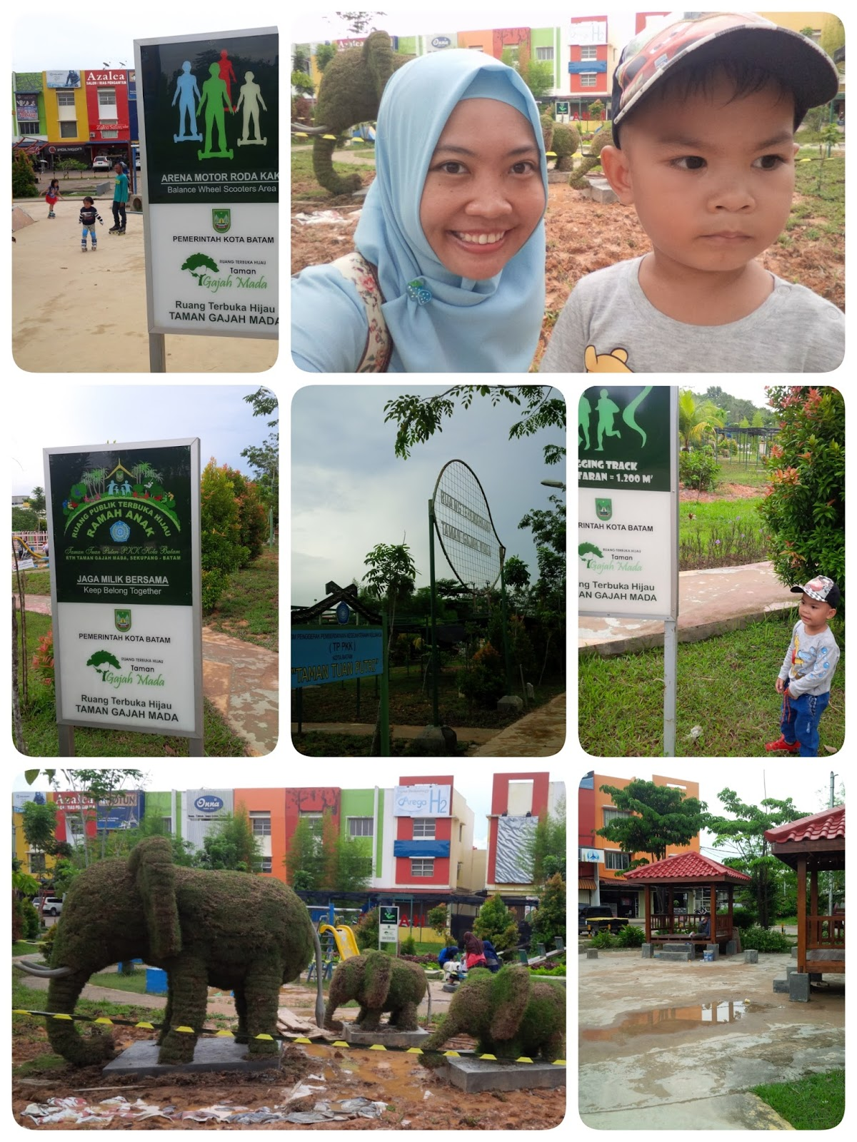 Ruang terbuka hijau taman gajah mada batam