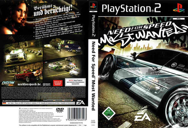 Descargar Need for Speed Most Wanted para PlayStation 2 en formato ISO región NTSC y PAL en Español Multilenguaje Enlace directo sin torrent. El juego reintroduce persecuciones policiacas hacia un juego orientado a las carreras ilegales, con ciertas opciones de personalización de la serie de Need for Speed: Underground. El juego es seguido por Need for Speed: Carbon, el cual sirve como secuela de Most Wanted.