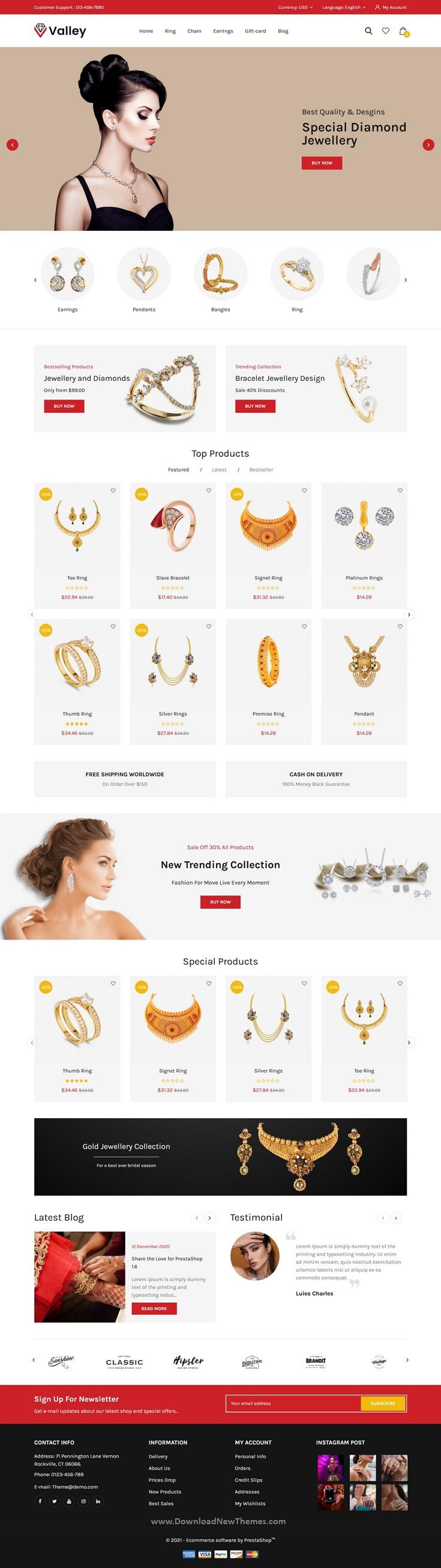 Jewellery Prestashop Responsive Theme