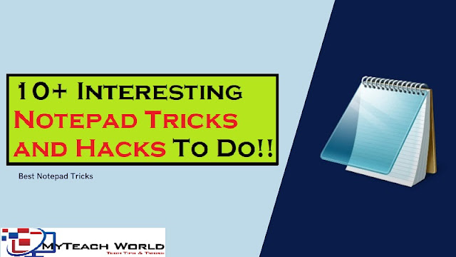 10+ Interesting Notepad Tricks and Hacks To Do  You Cannot Miss!