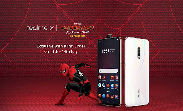 Realme X Spider-Man edition Blind Order sale with Rs. 500 bonus credit