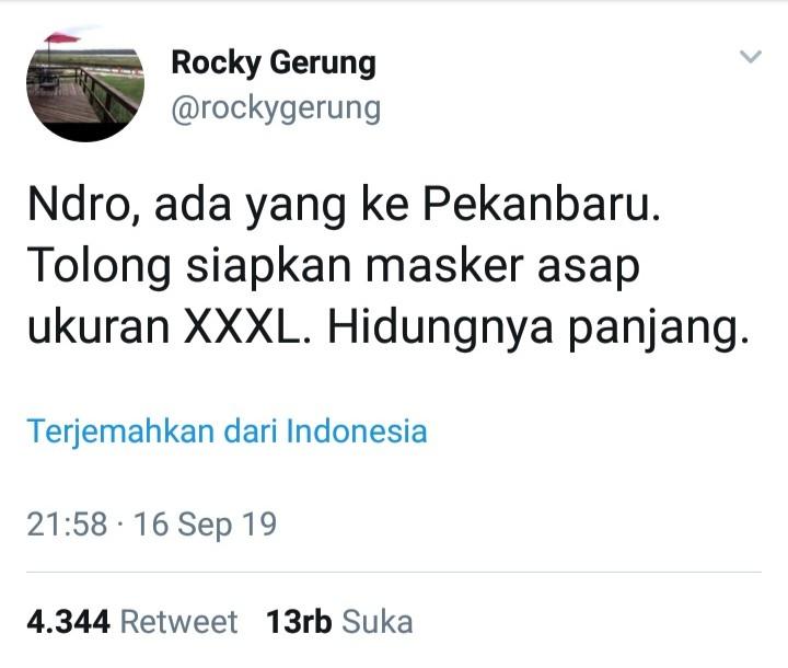 Ada Pejabat ke Riau, Permintaan Aneh Rocky Gerung Bikin Ceby Marah