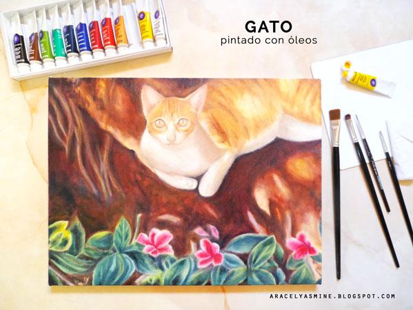 Pintar un gato con óleos