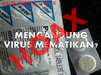 Hoax Produk Obat Parasetamol Mengandung Virus Mematikan
