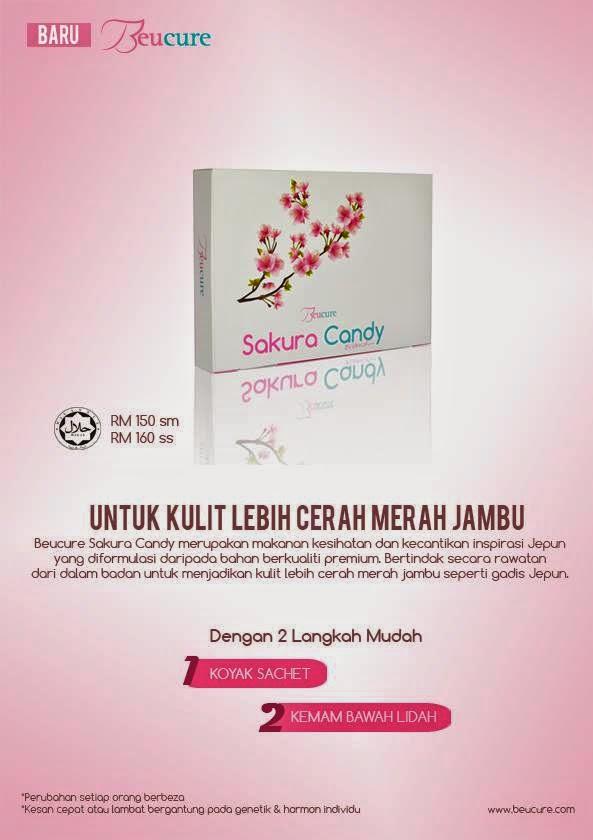 Beucure Sakura Candy, kulit cerah merah jambu, kulit cantik