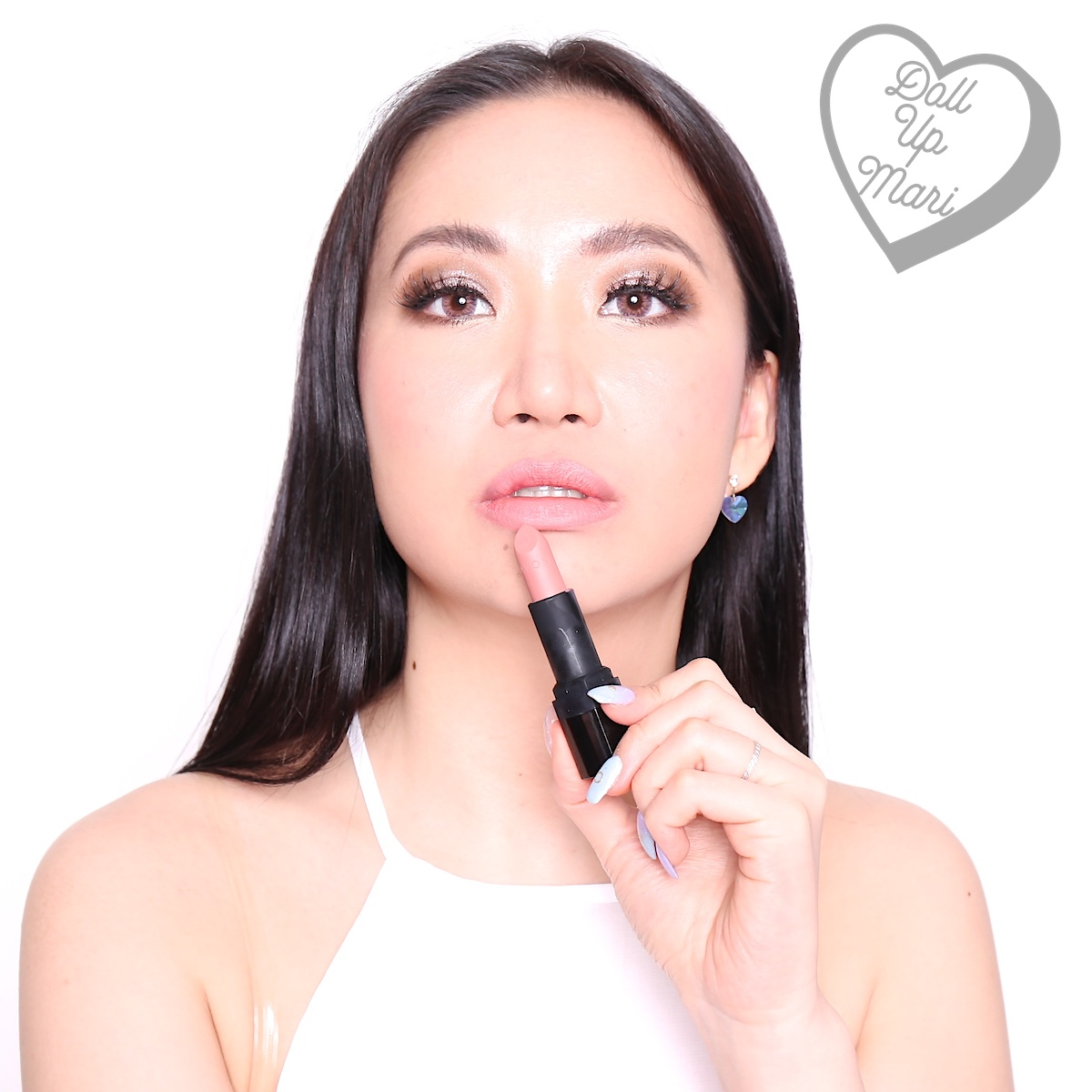 Mari wearing Rouged Perfection shade of AVON Perfectly Matte Lipstick