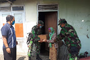 Jelang Ibadah Puasa, Koramil 18/Cilacap Utara Bagikan 150 Paket Sembako