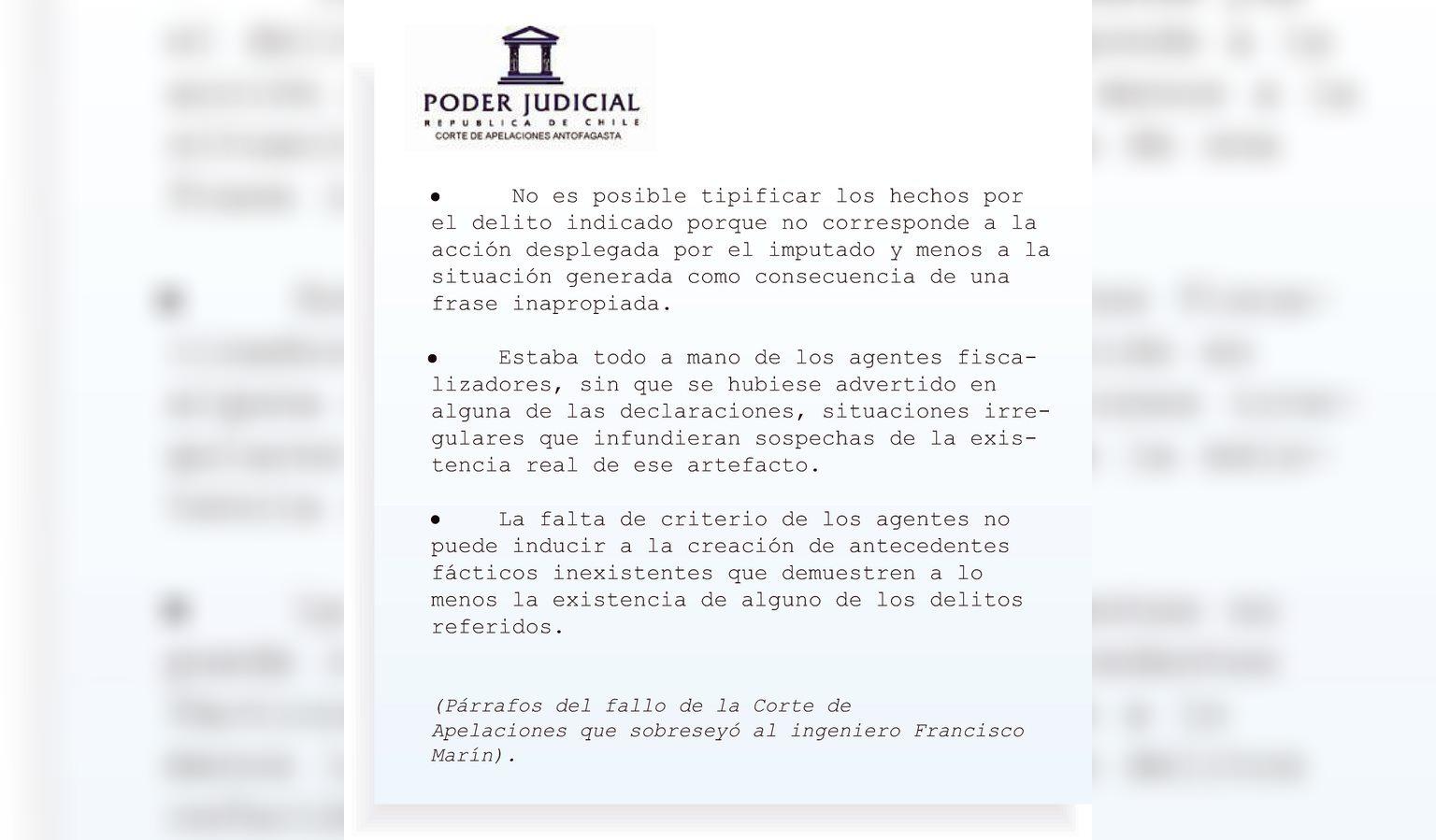 La Segunda Sala de la Corte de Apelaciones de Antofagasta dispuso el sobreseimiento definitivo