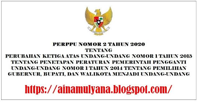 PERPU – PERPPU Nomor 2 Tahun 2020