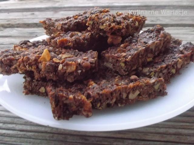 orzechowo-czekoladowe batoniki