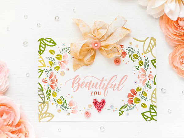 Beautiful You - Mother's Day Card with Pinkfresh Studio | Delicate Series