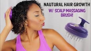 Natural Hair Growth wScalp Massaging Brush