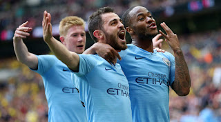 Raheem Sterling scored a hat-trick as Manchester City crushed Watford 6-0 in the fa cup final