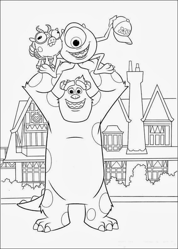 Fun Coloring Pages Monsters University Coloring Pages