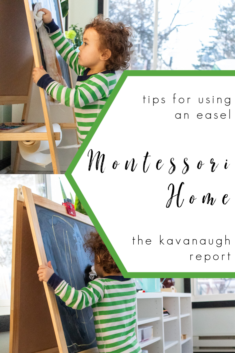 Using an art easel in your Montessori home plus a few options to consider