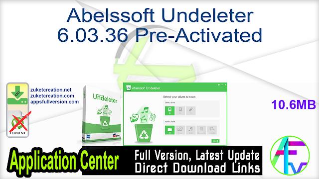 Abelssoft Undeleter 6.03.36 Pre-Activated