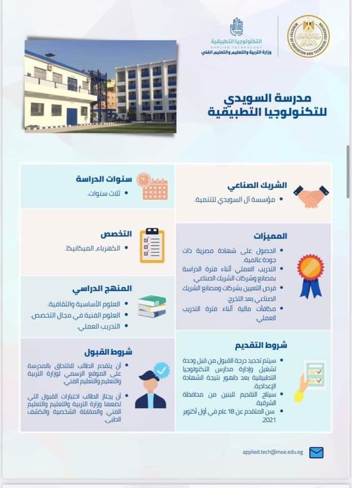 لطلاب الإعدادية .. فتح باب التقديم في 20 مدرسة للتكنولوجيا التطبيقية يوليو المقبل 0%2B%25287%2529