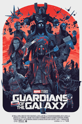 Guardians of the Galaxy Movie Poster Variant Regular Edition Screen Print by Gabz x Grey Matter Art