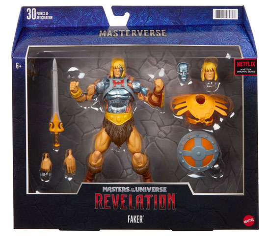 Masters of the Universe Revelation Faker packaging