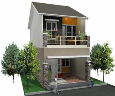 Foto Rumah Minimalis 2 Lantai Type 36 Modern