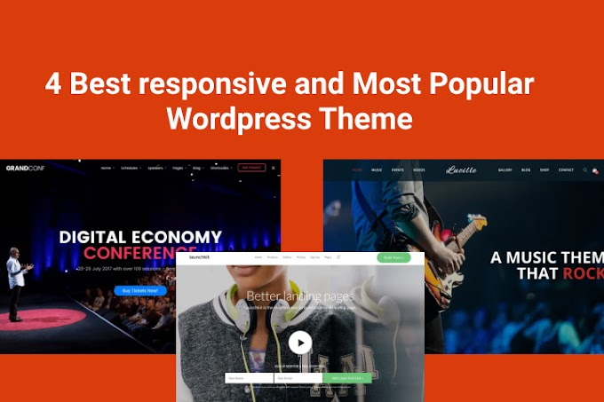 4 Best responsive and Most Popular Wordpress Theme