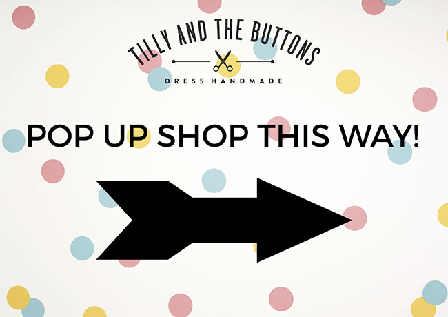 Tilly and the Buttons handpicked knit fabrics pop up shop