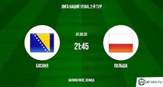 « Босния и Герцеговина » — «Польша»: прогноз на матч, где будет трансляция смотреть онлайн в 21:45 МСК. 07.09.2020г.