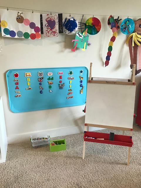 Easy preschool word work activity