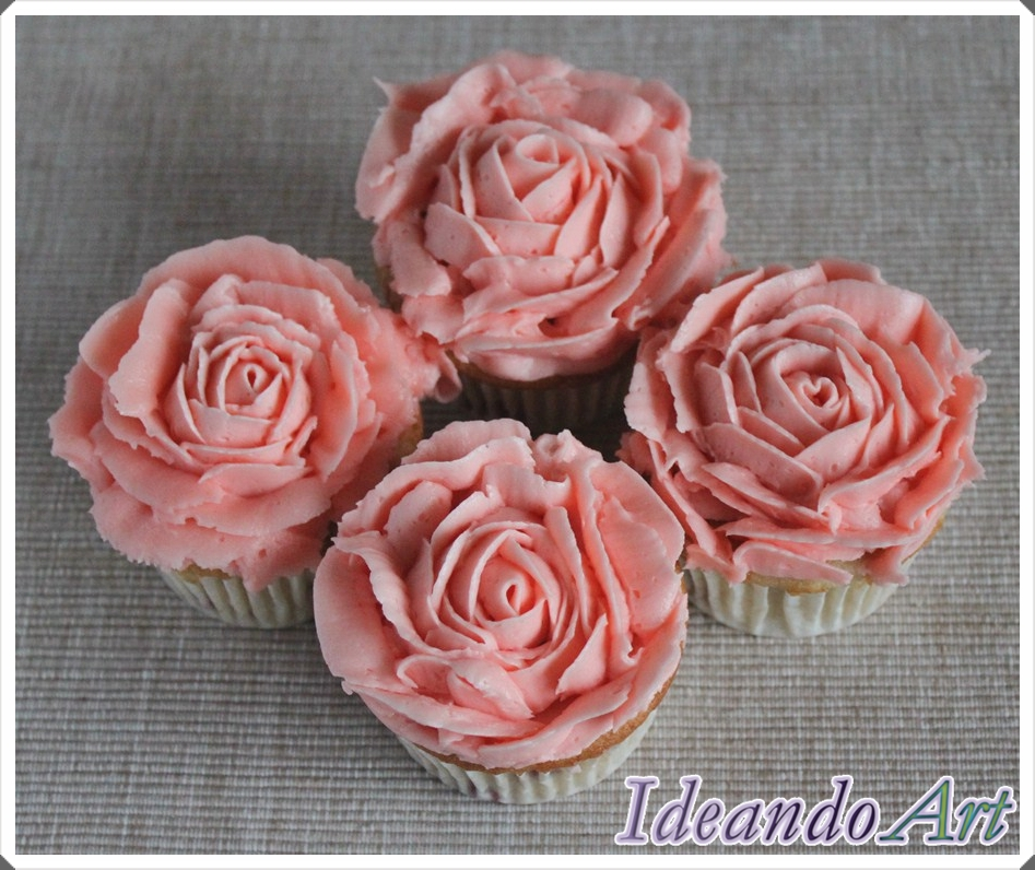 Rosas de buttercream