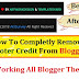 Completely Remove Copyright Footer Credit For All Blogger Template