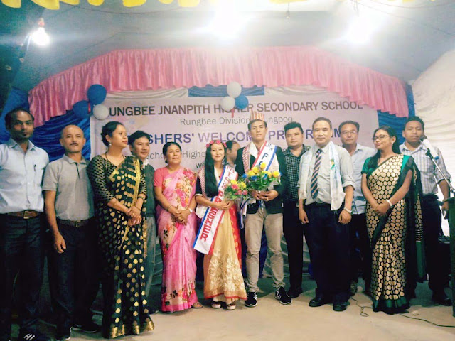 Freshers welcome programme Jnanpith higher secondary school rungbee mungpoo