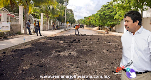 Programa emergente de reparación de calles afectadas por lluvias: Víctor Mas Tah