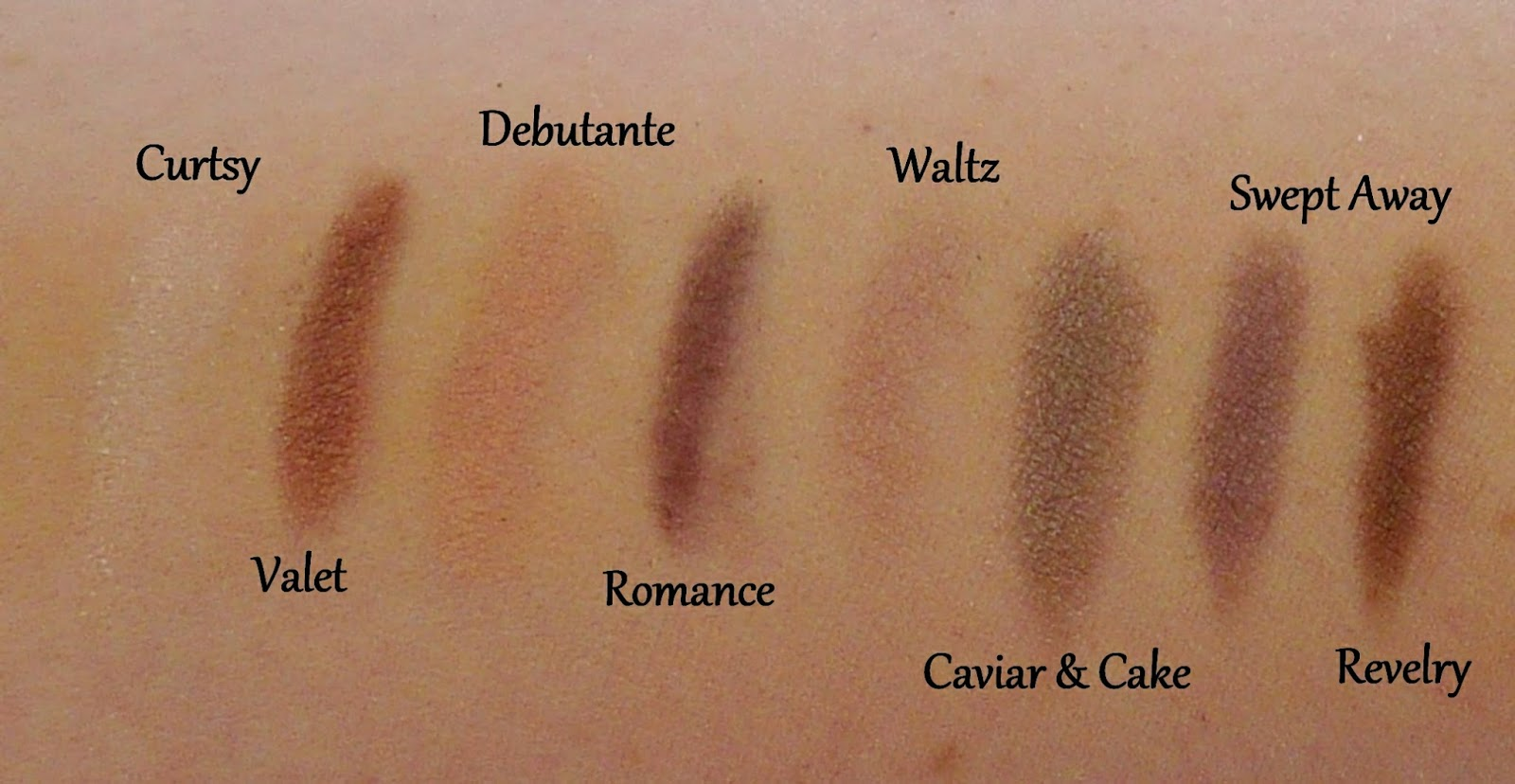 Bareminerals An Affair to Remember Palette Swatches