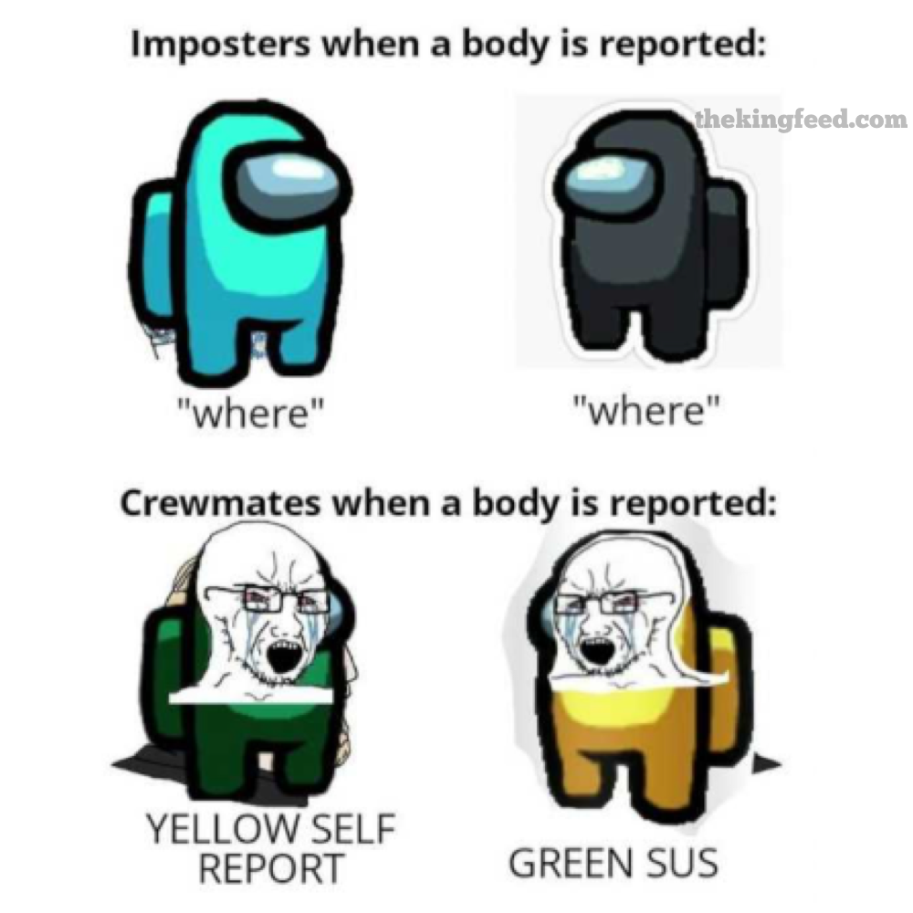 impostor among us funny memes viral memes buzzfeed friend amongsus imposter impostor mission body viral laugh best top laugh lol pink red green blue