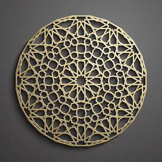 تحميل باترن إسلامي ثلاثي الأبعاد باللون الذهبي 4