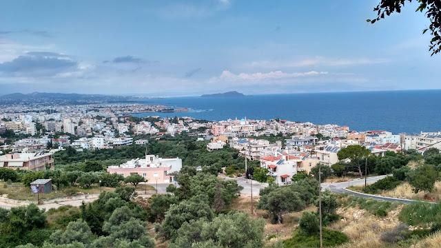 widok na Chanię z góry, miasto na Krecie