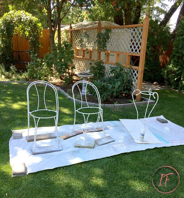 DIY Bistro Cafe Chairs Painted