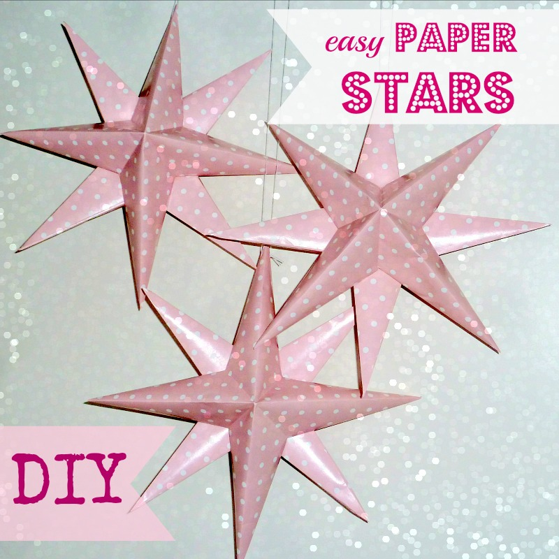 Easy New Year's Eve paper stars