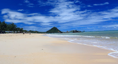 Pristine white sand beaches in Kuta Lombok